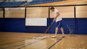 Pau working out at the Home Depot Center before the Lockout is over