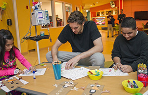 Pau pays a visit to children's hospitals in Chicago and LA